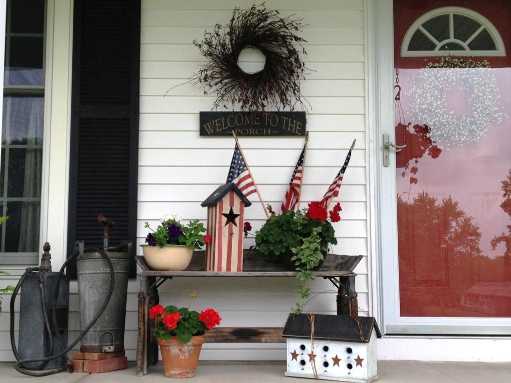 Front Porch Country Decorating Ideas For Spring Randolph Indoor