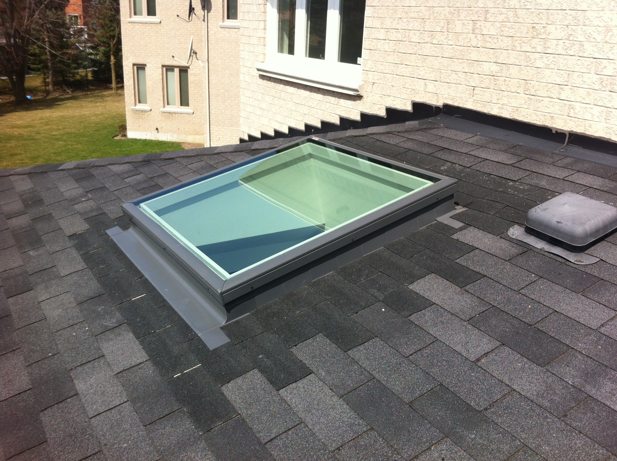 Curb Mounted Skylight Flat Roof Randolph Indoor And Outdoor Design