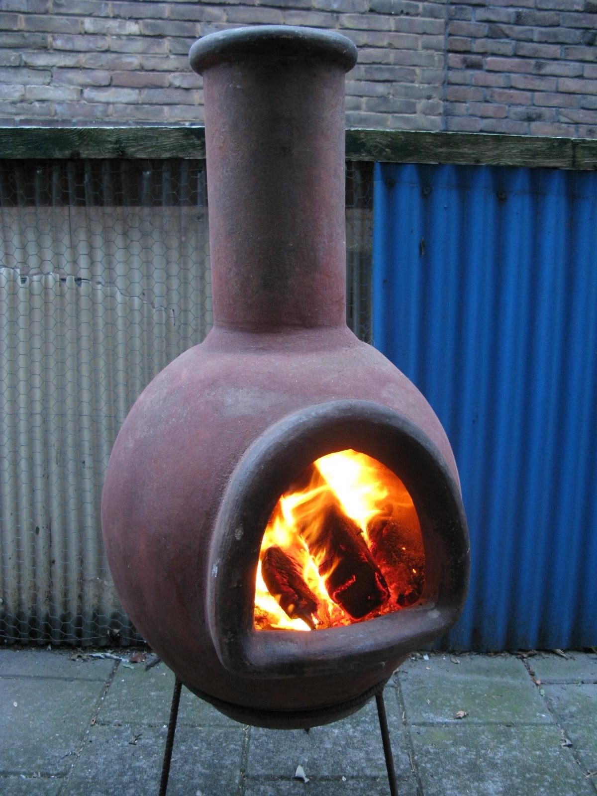 Custom Large Clay Chiminea Outdoor Fireplace