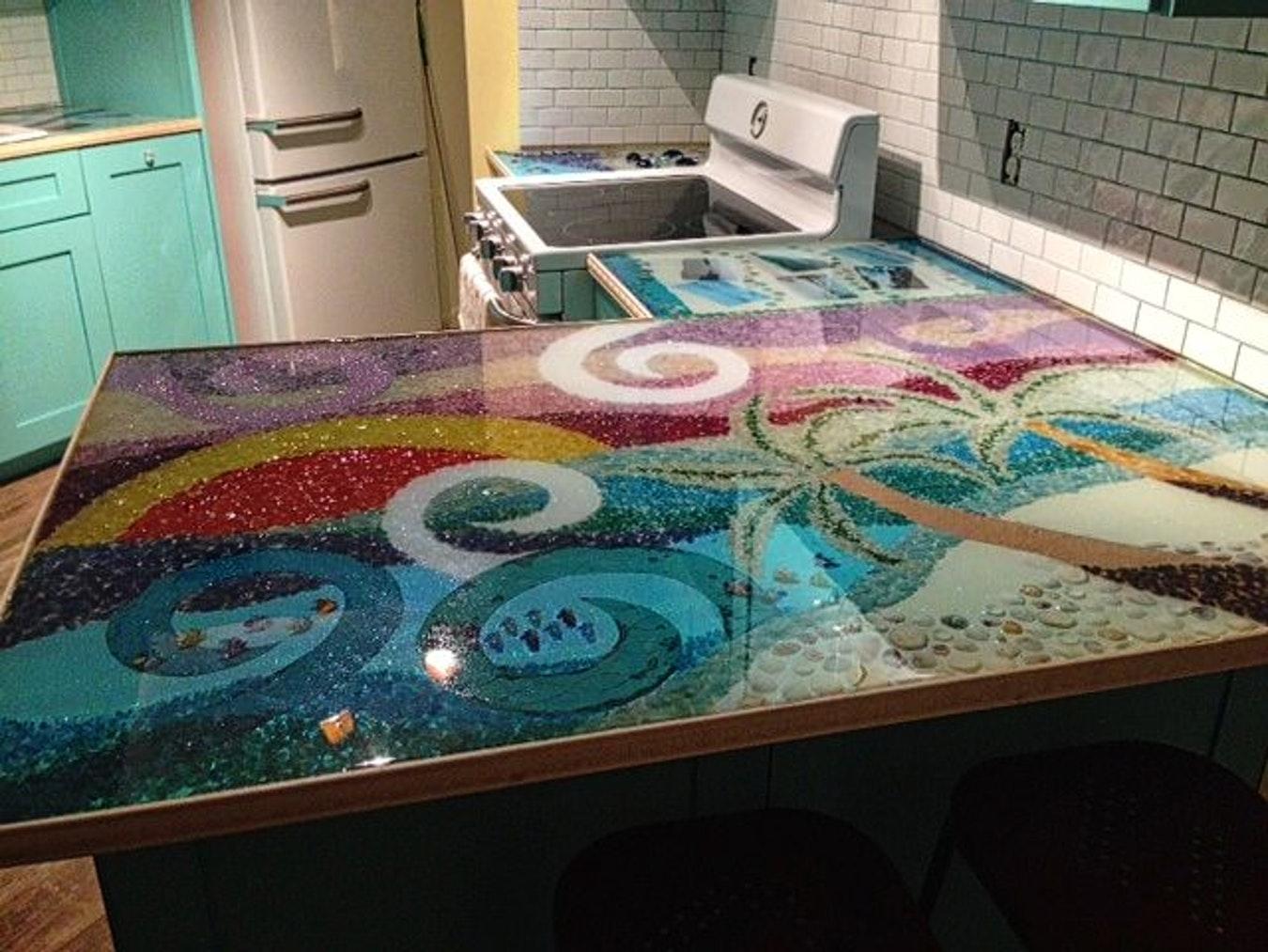 Epoxy Resin Countertops Kitchen Randolph Indoor And Outdoor Design