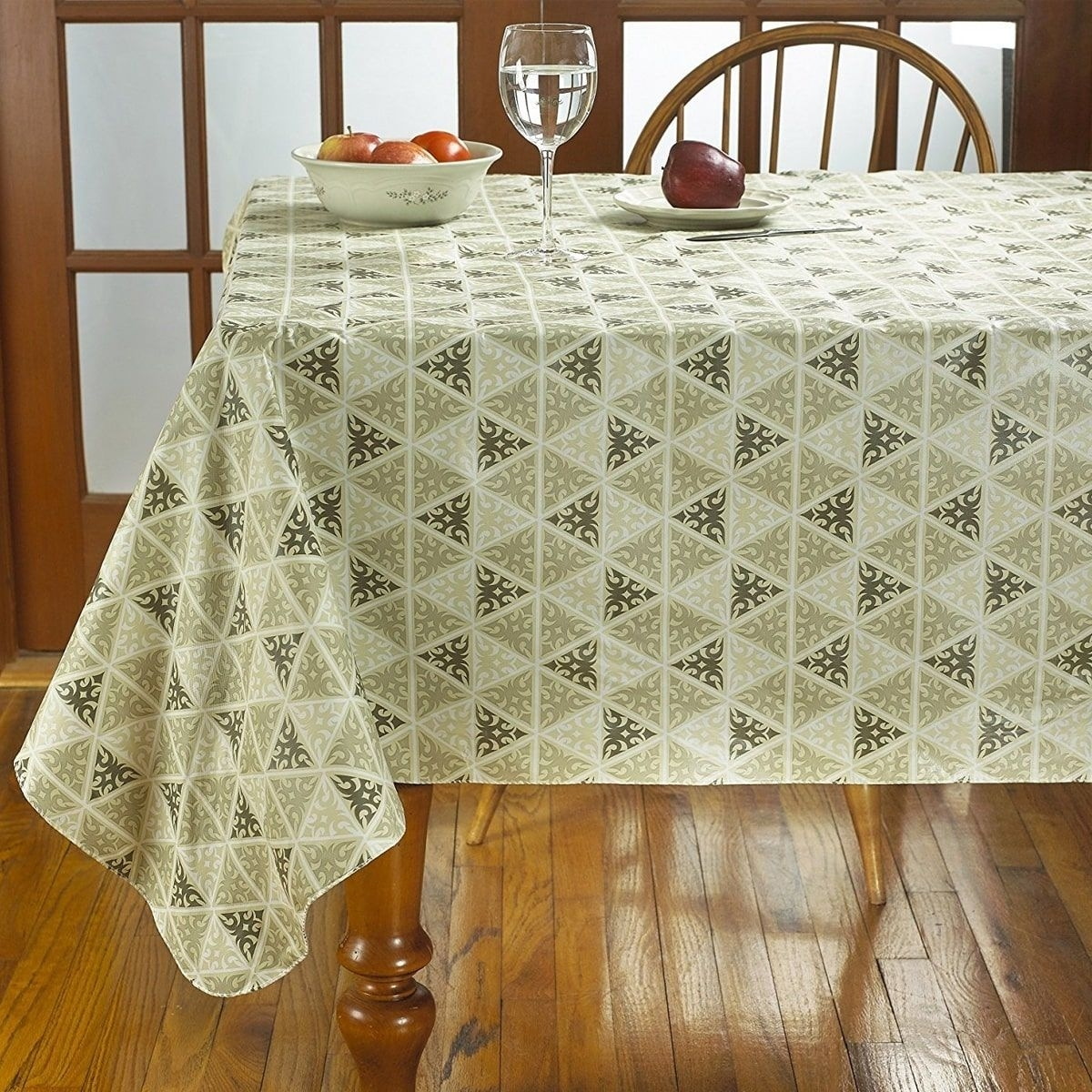 Incroyable Flannel Backed Rectangular Solid Color Vinyl Tablecloth