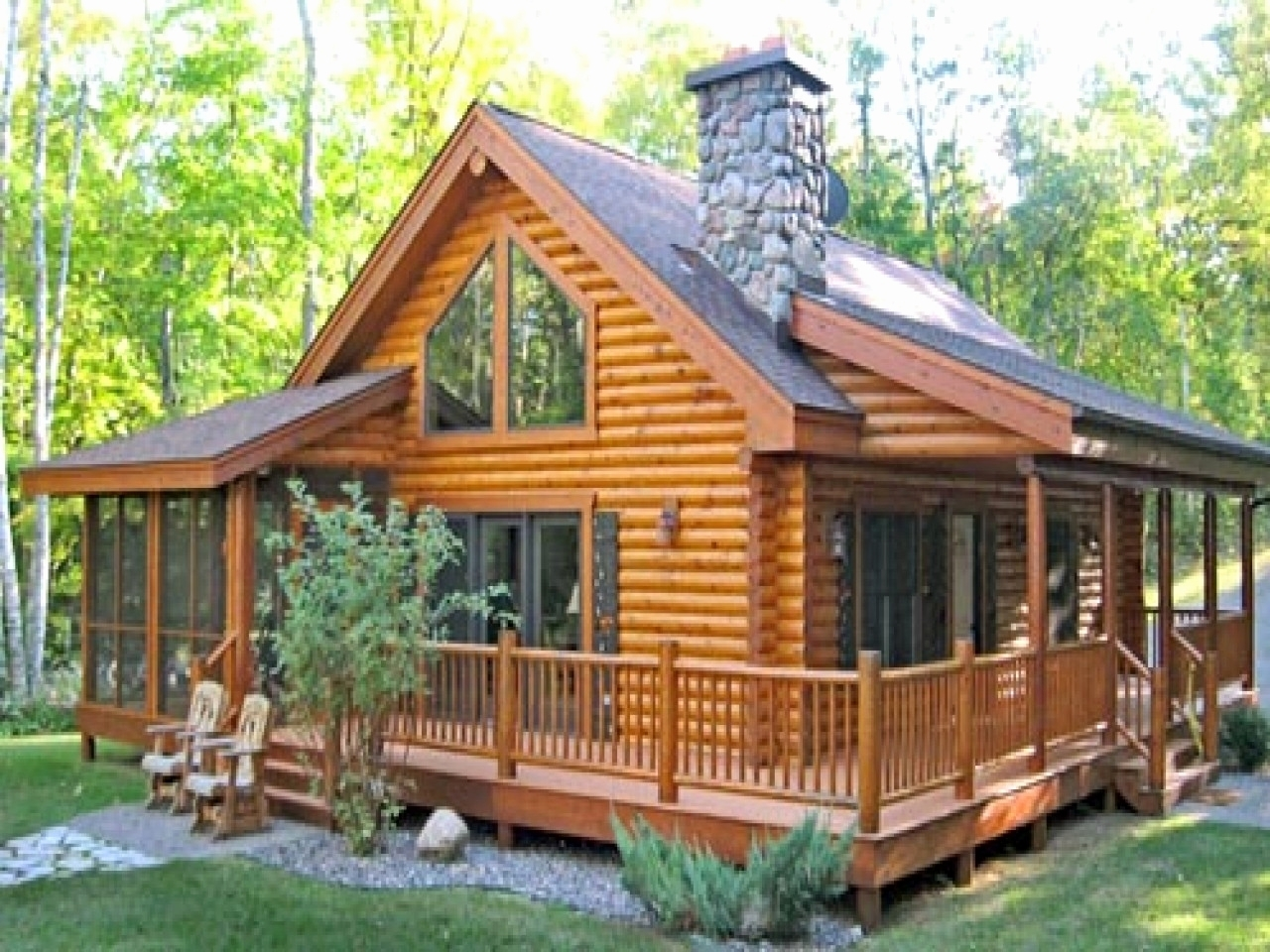 Floor Plan Log Cabin Homes With Wrap Around Porch — Randolph Indoor and  Outdoor Design