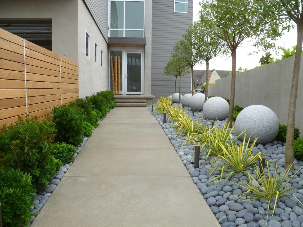 Front Of House Landscaping Ideas With Sidewalk Randolph Indoor