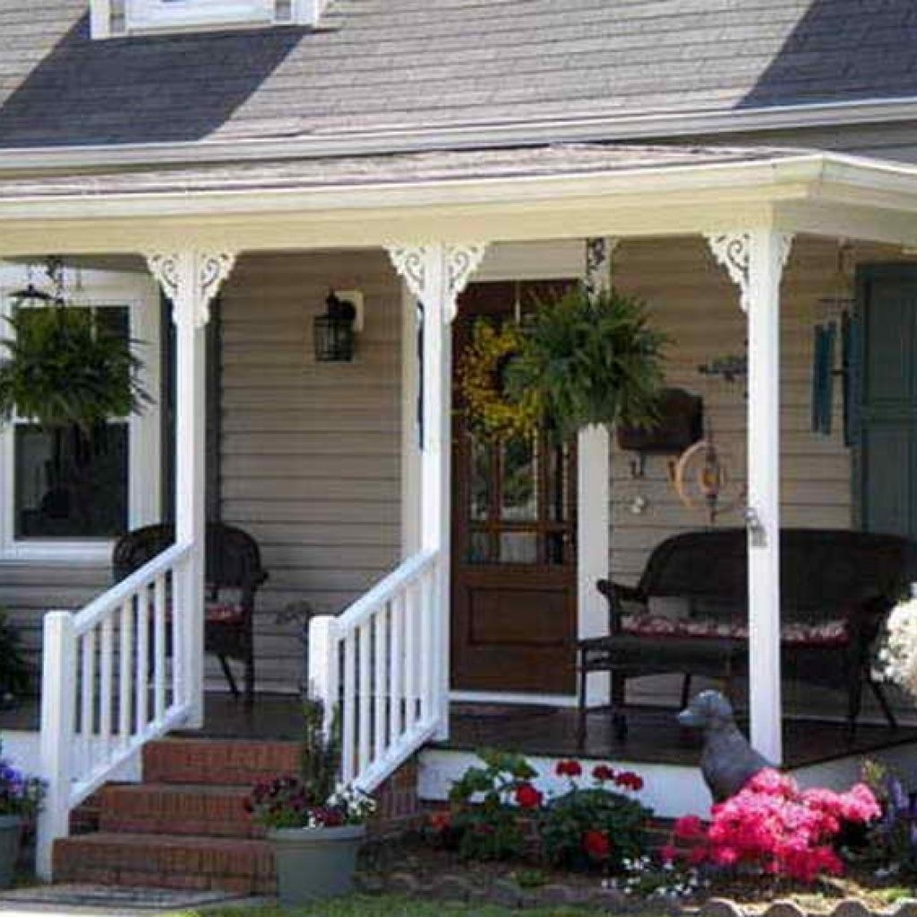 Small Front Porch Design Ideas For The Caribbean: Screened Front Porch Ideas For Small Houses