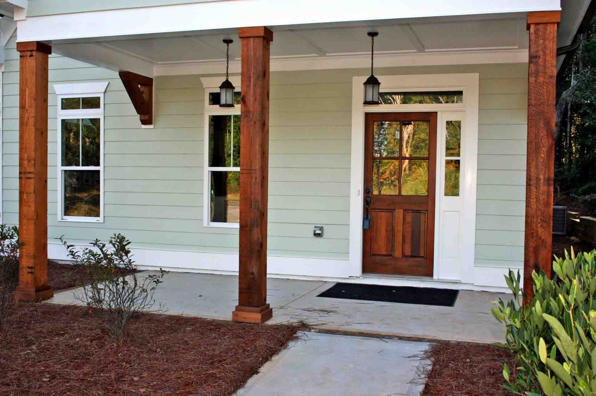 Wood Front Porch Pillars Randolph Indoor And Outdoor Design