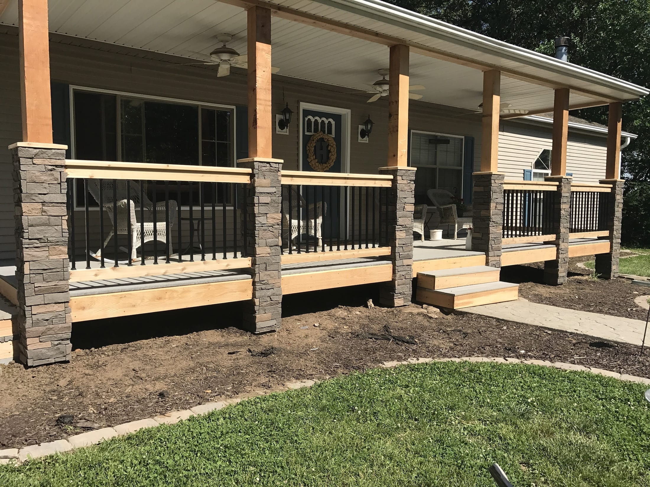 How To Install Front Porch Pillars
