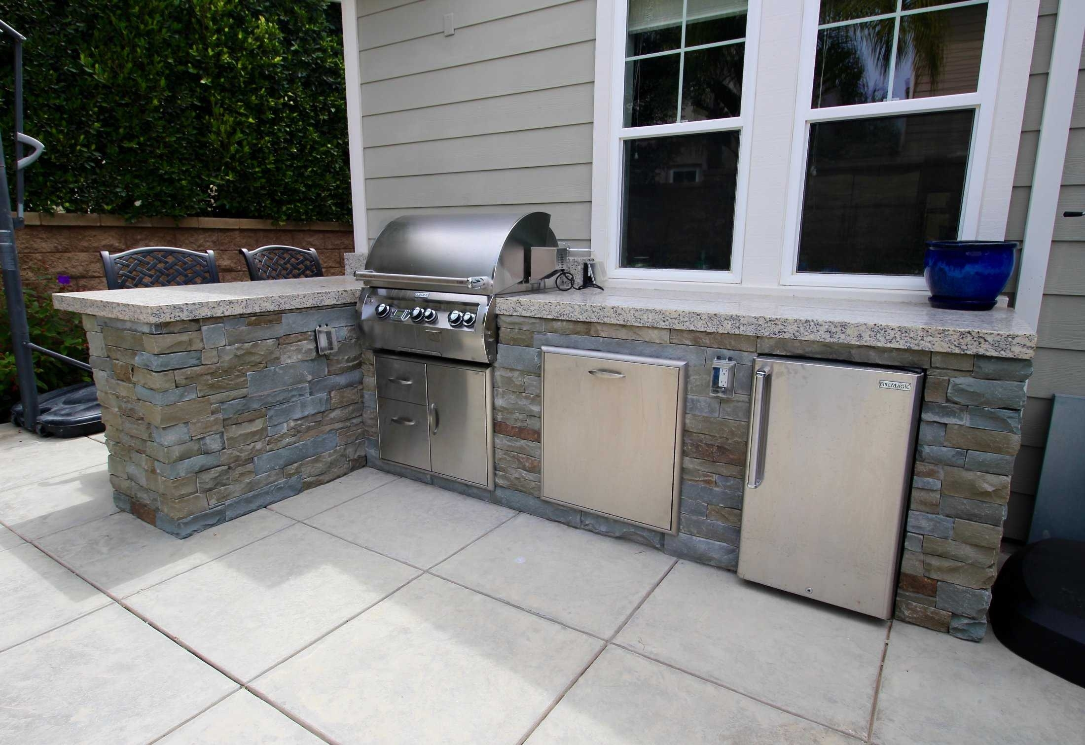 Granite Countertops For Brick Outdoor Kitchen — Randolph ...