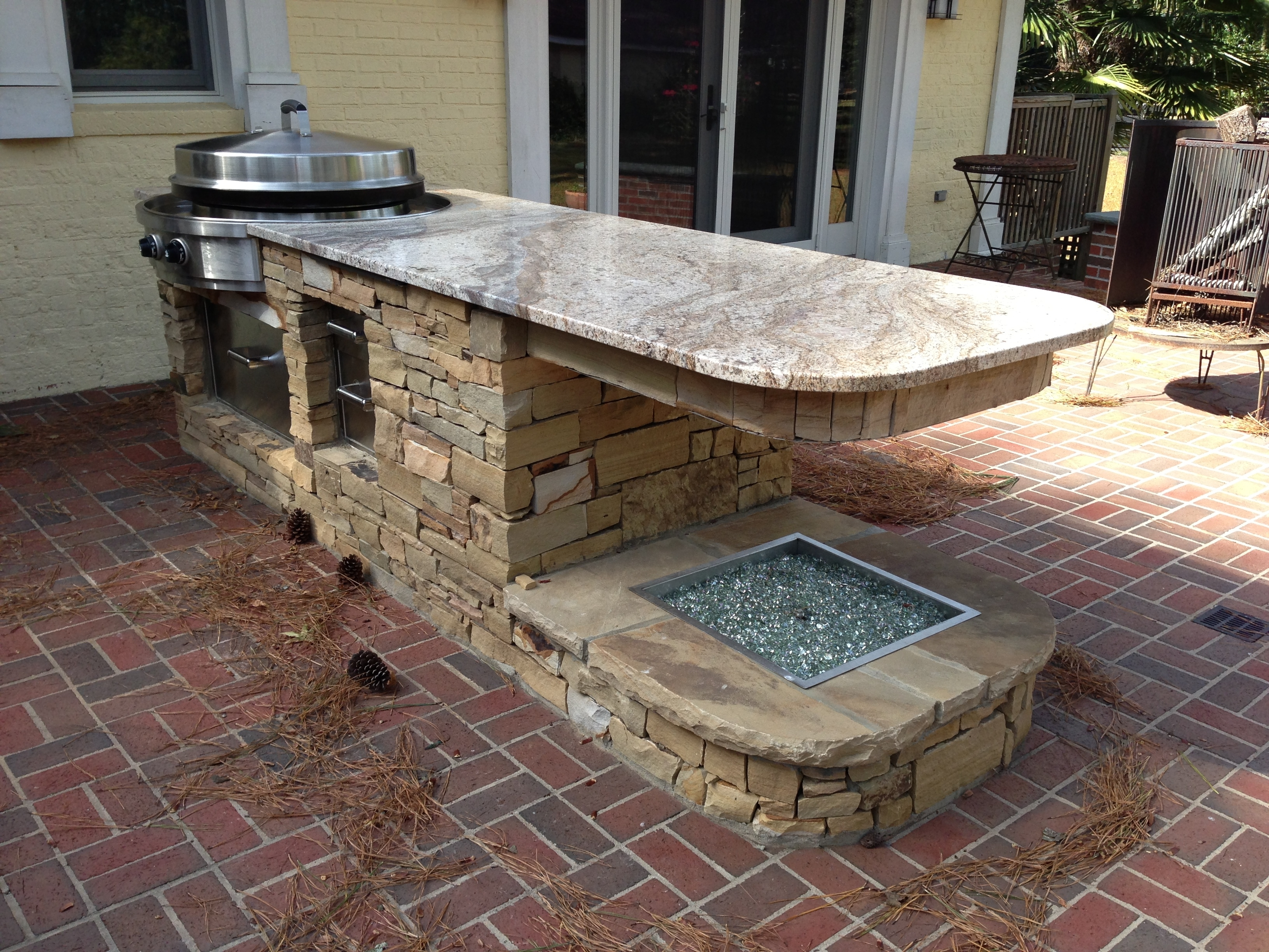 Outdoor Kitchen Granite Countertops Design Randolph Indoor And