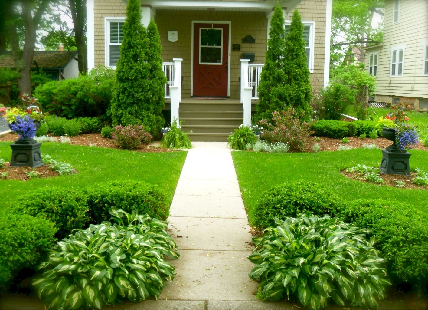 inspired front sidewalk landscaping ideas — randolph indoor and