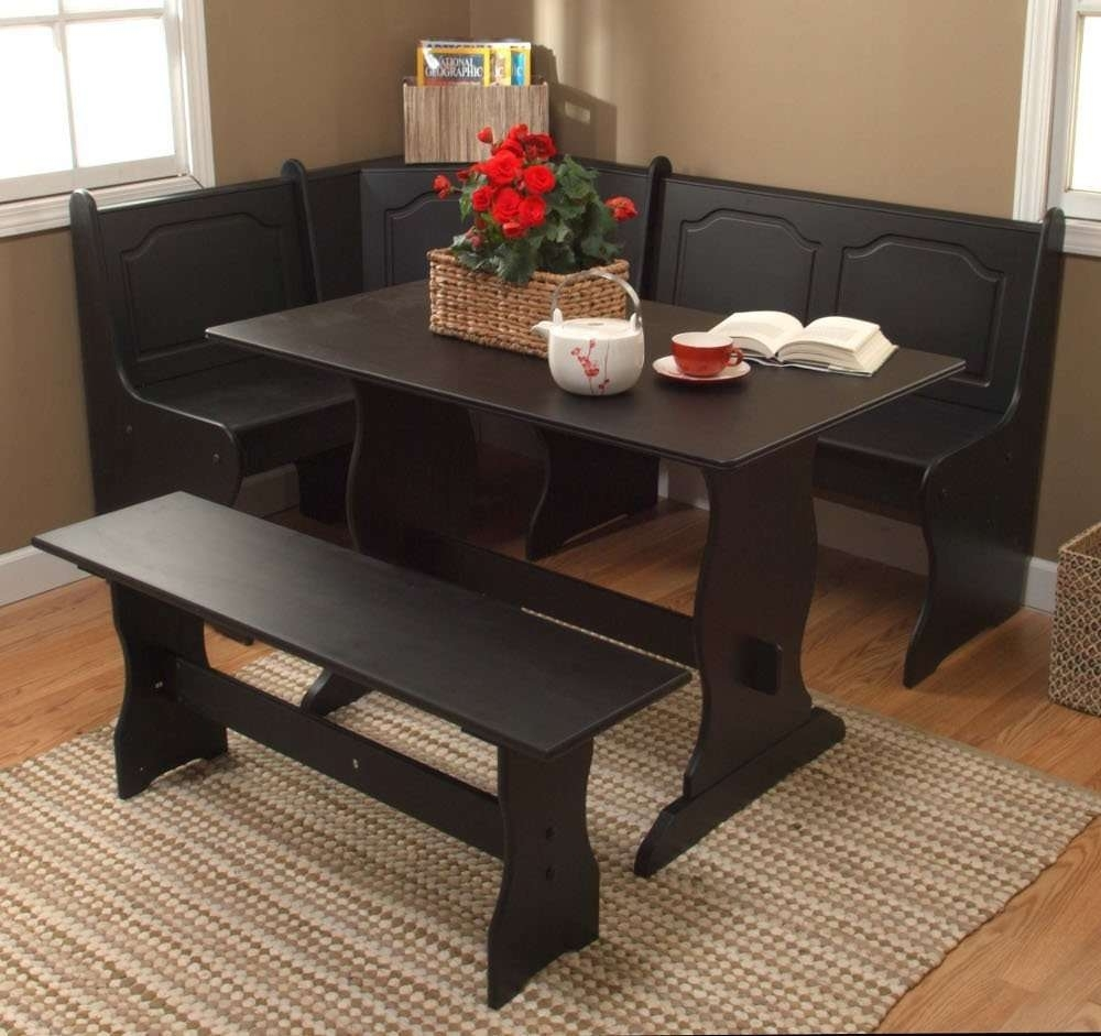 Kitchen Nook Solid Wood Corner Dining Breakfast Set Table Bench