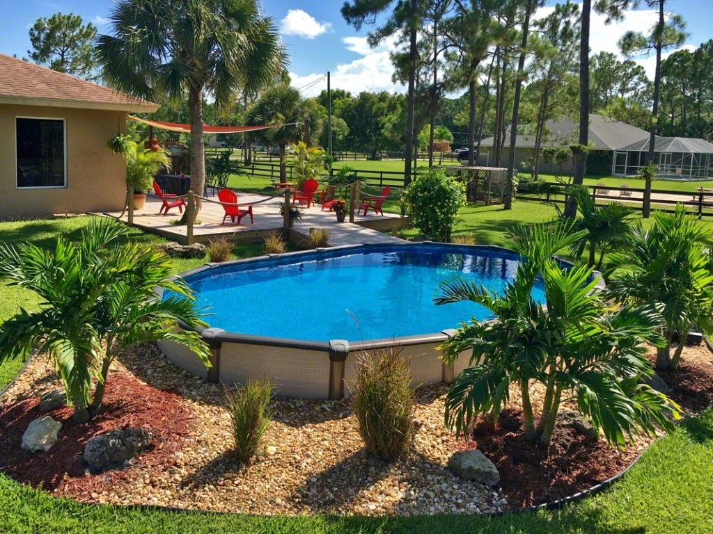 Landscaping Around Above Ground Pool Pictures Randolph Indoor