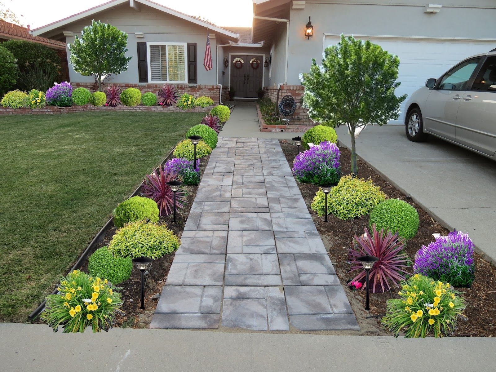 Landscaping Ideas Down A Front Entrance Sidewalk