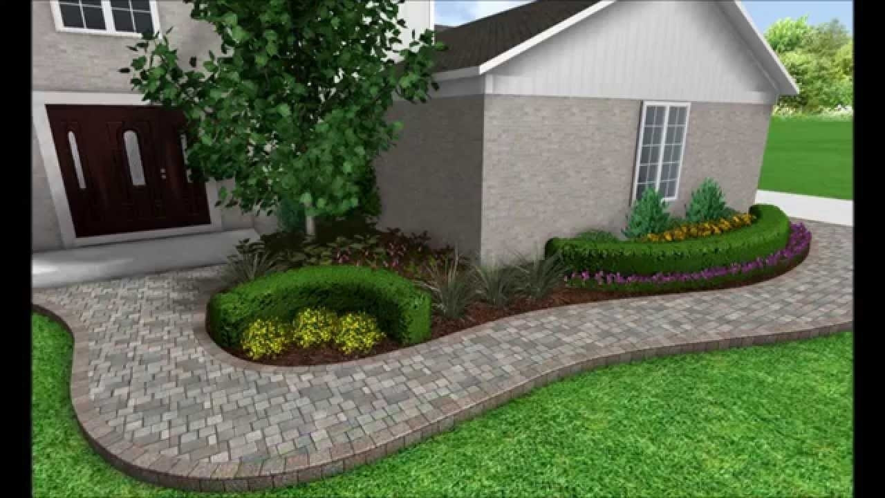Landscaping Ideas With Front Sidewalk To Attached Garage