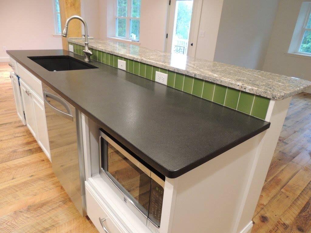 Leathered Black Pearl Granite Countertops