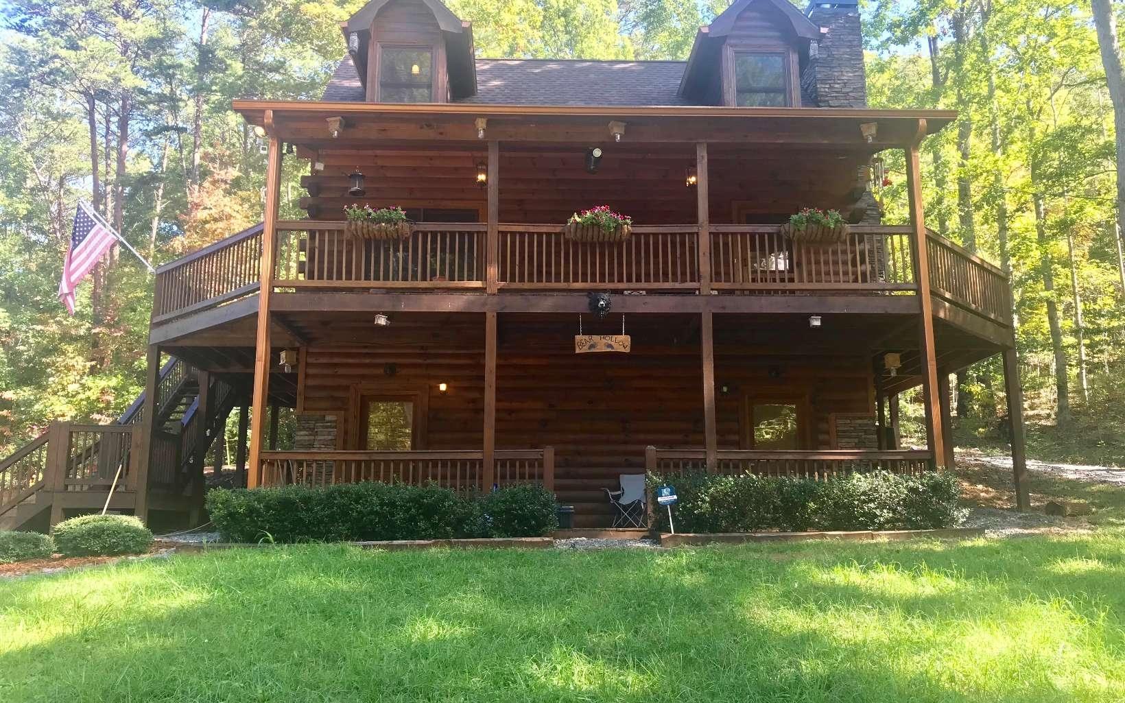 Floor Plan Log Cabin Homes With Wrap Around Porch — Randolph ...