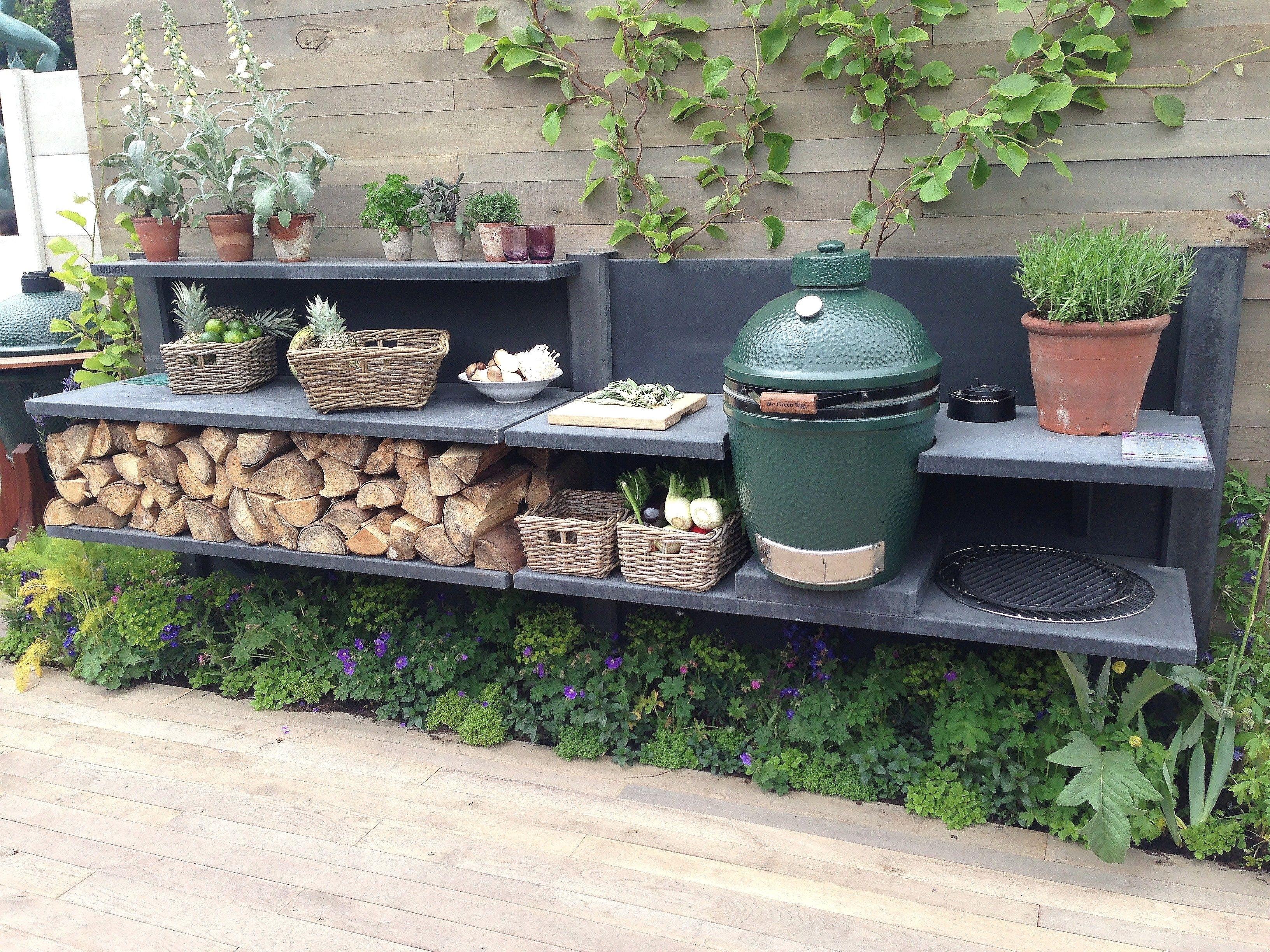 Lovely Green Egg Built In Outdoor Kitchen — Randolph Indoor ...