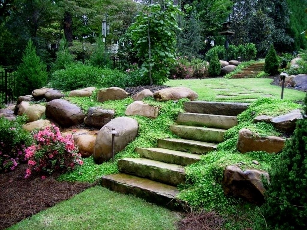 Low Maintenance Hillside Landscape Ideas Randolph Indoor And