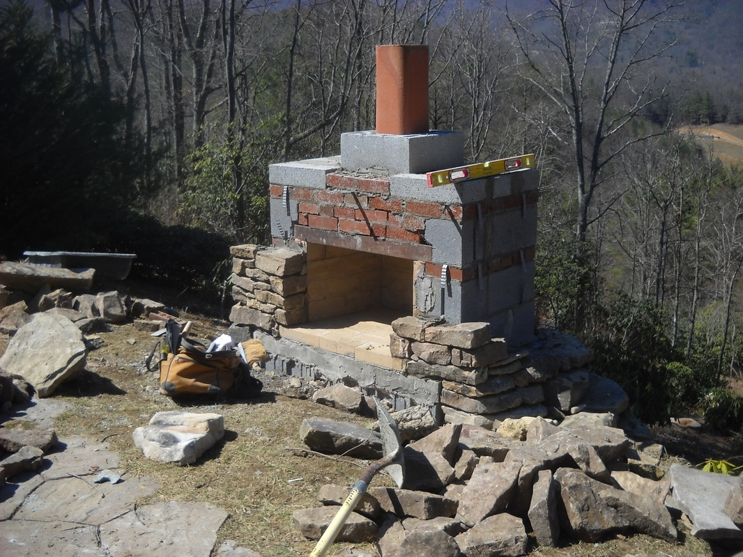Luvan Outdoor Natural Stone Chiminea Fireplace For Patio