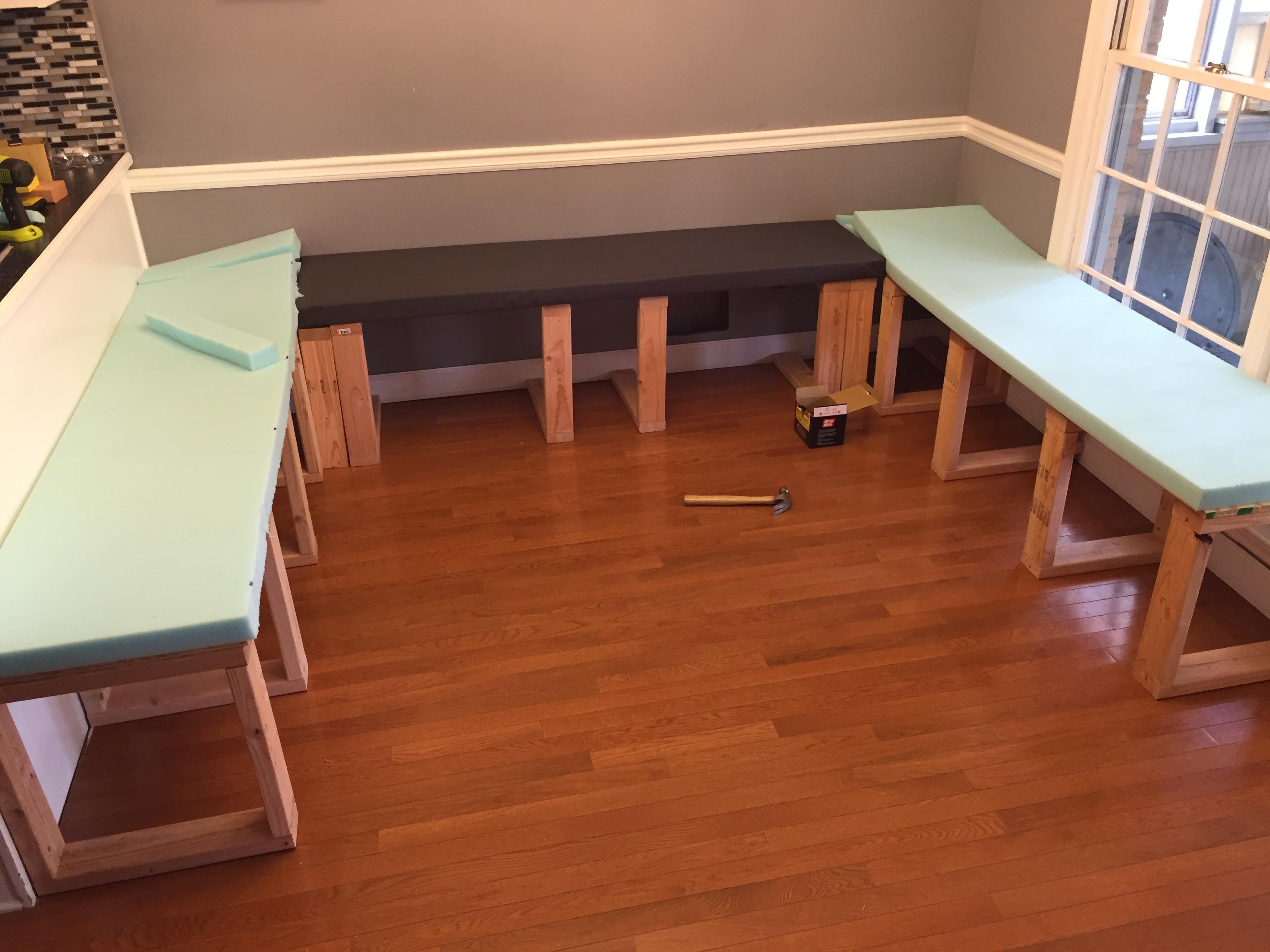 Moss Green 4 Piece Nook Cushion Set Corner Bench Booth Dining