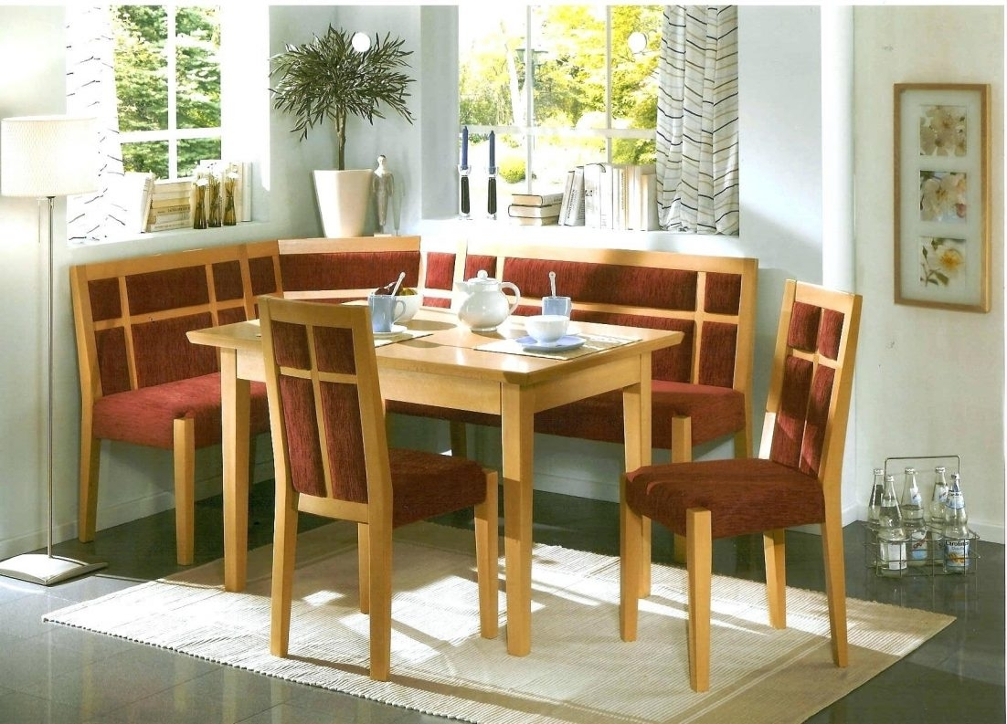 Kitchen Nook Solid Wood Corner Dining Breakfast Set Table ...