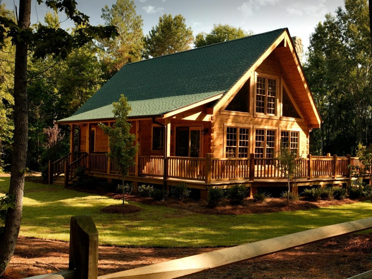 One Story Log Cabin With Wrap Around Porch Randolph