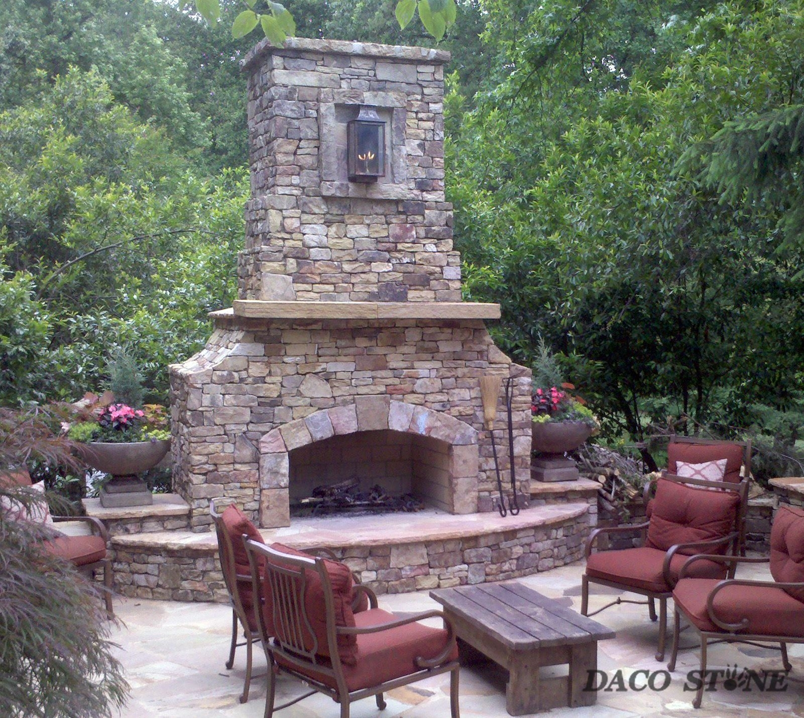 Outdoor Stone Fireplace Kits For
