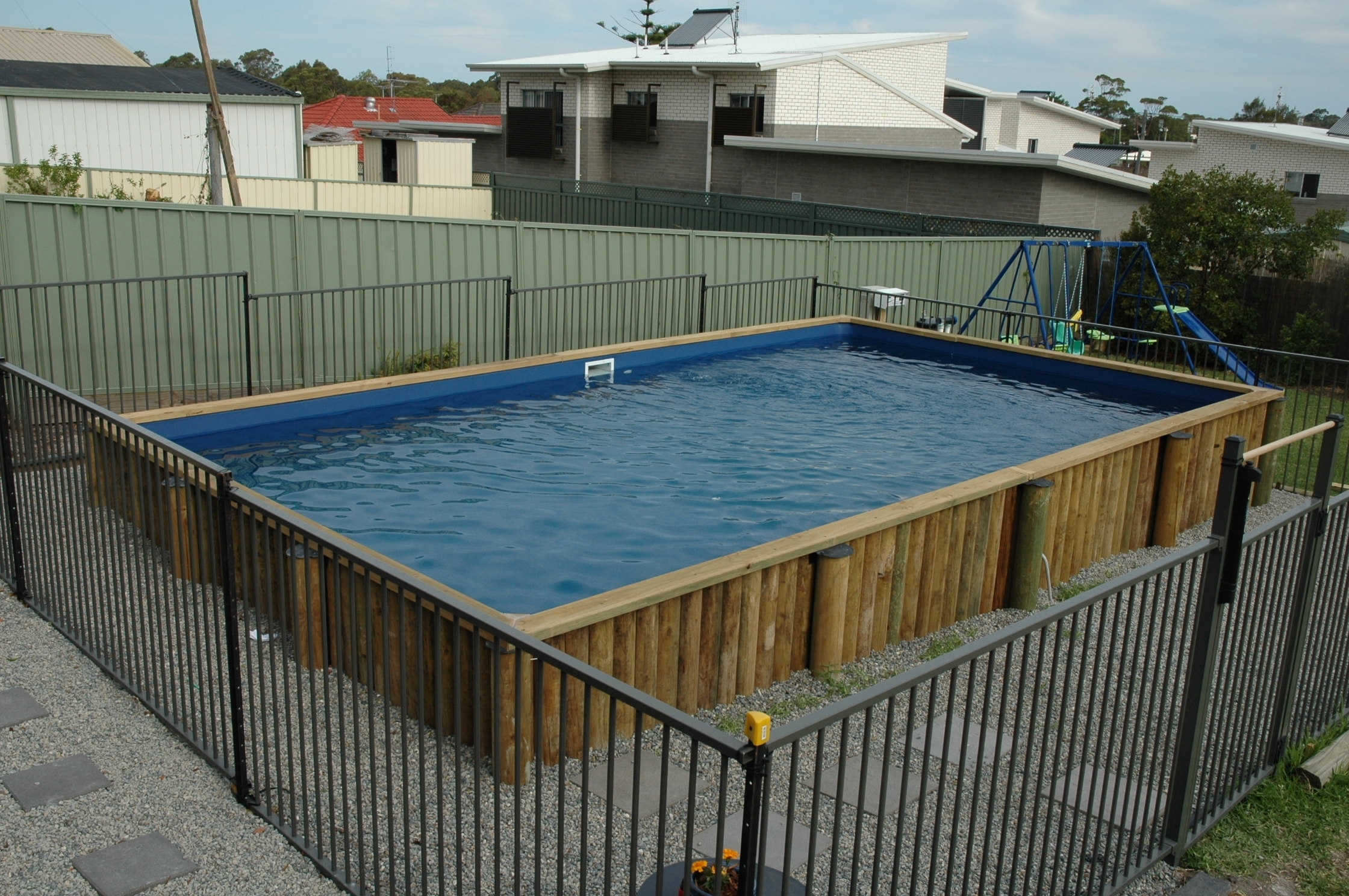Semi Inground Pool Kits Hickory Randolph Indoor And