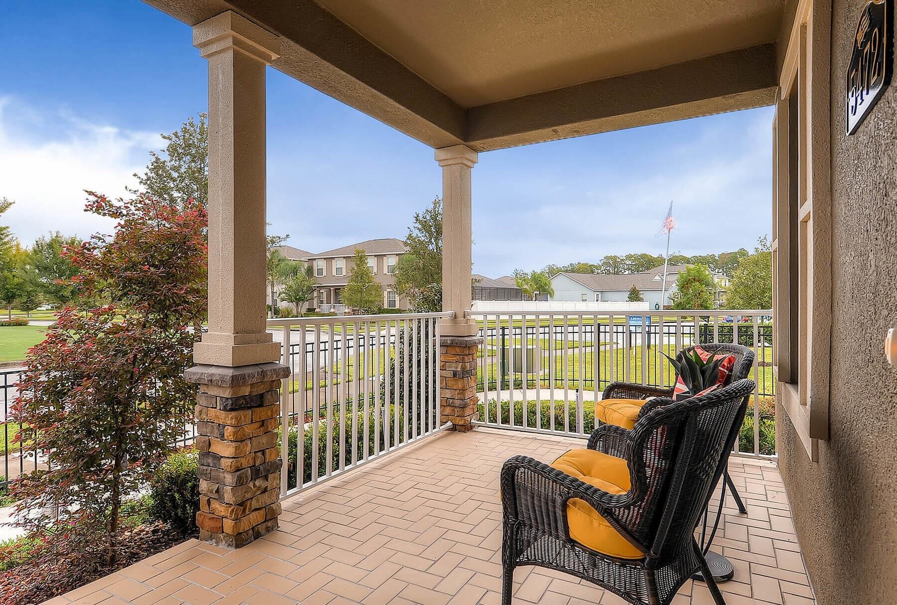 Replacing front porch pillars