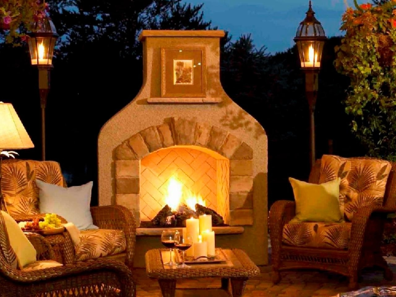 Luxurious Large Clay Chiminea Outdoor Fireplace