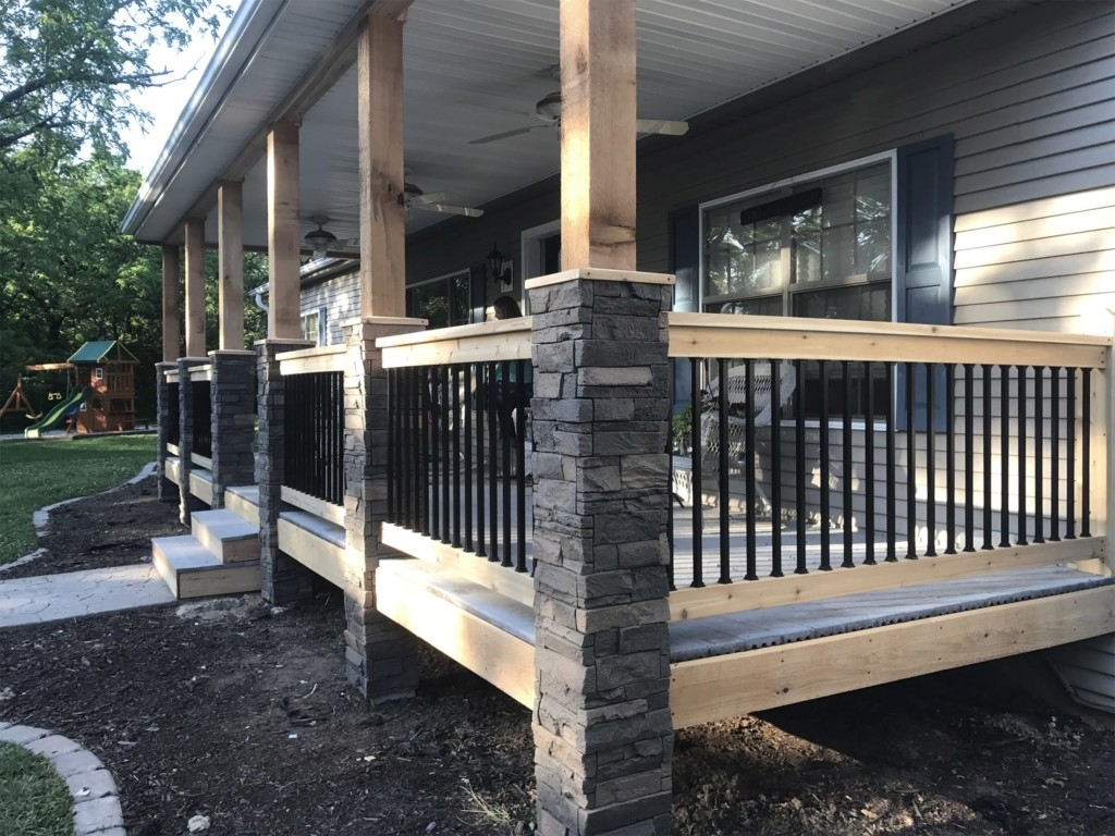 Stone Pillars Front Porch Randolph Indoor And Outdoor Design