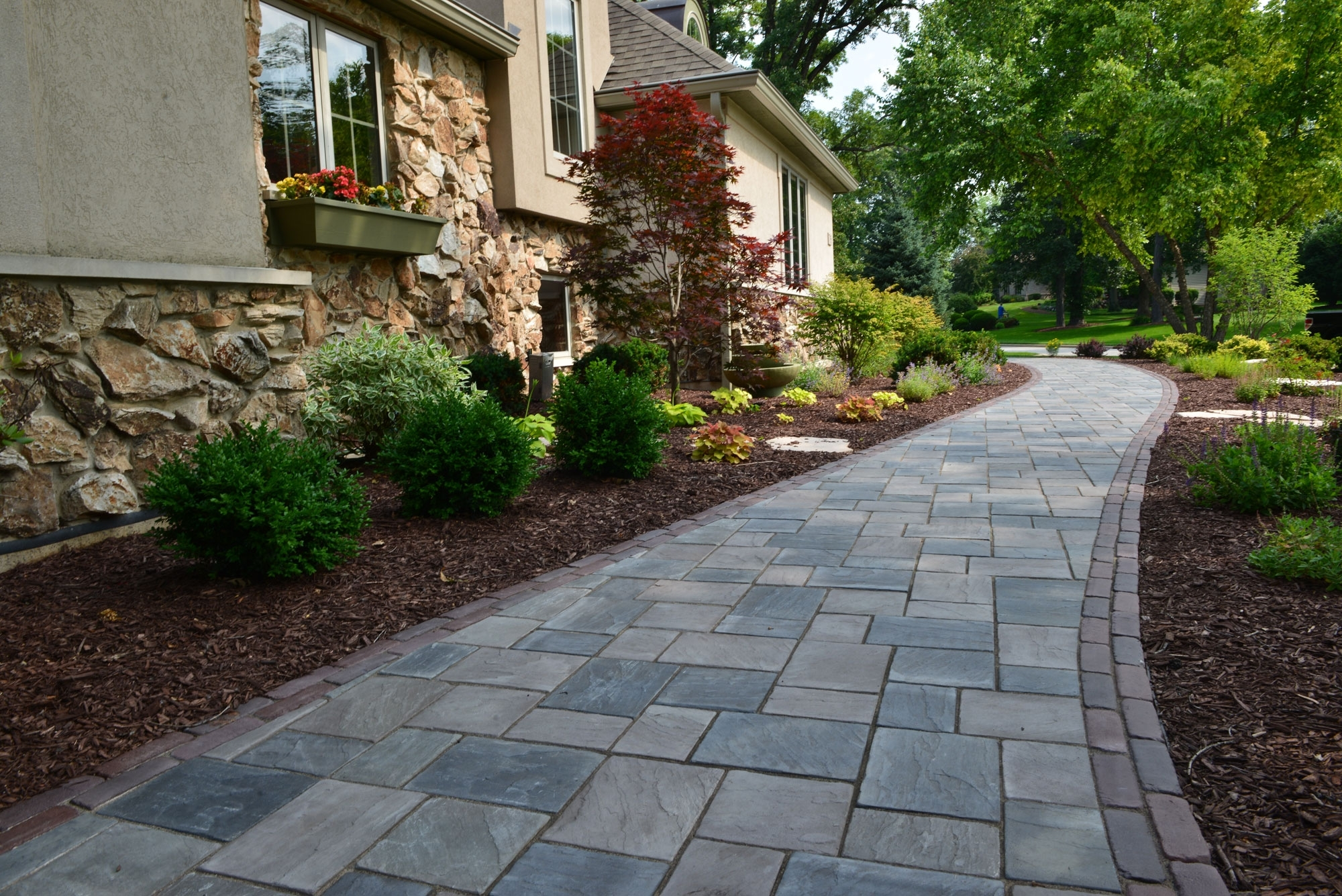 Sunny Front Sidewalk Landscaping Ideas Randolph Indoor And