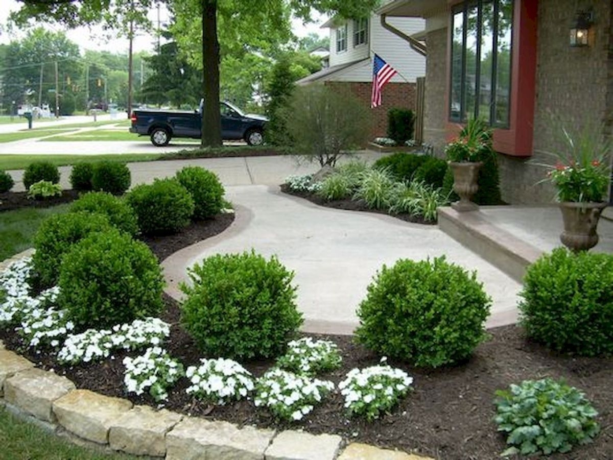 vintage front sidewalk landscaping ideas — randolph indoor and