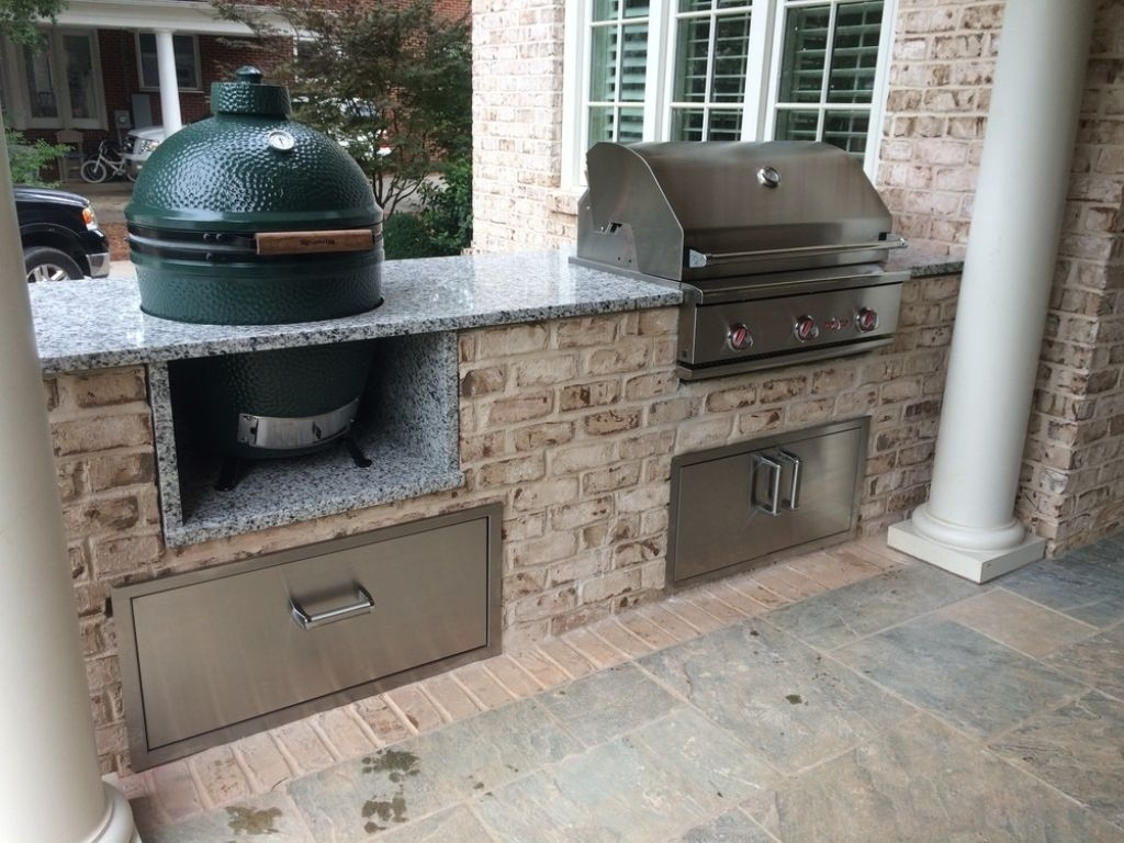 Vintage Green Egg Built In Outdoor Kitchen & Vintage Green Egg Built In Outdoor Kitchen u2014 Randolph Indoor and ...