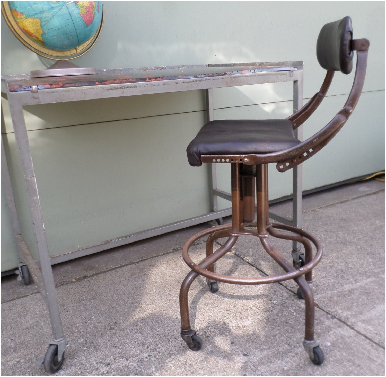 Marvelous Should I Refinish A Vintage Drafting Stool Randolph Indoor Machost Co Dining Chair Design Ideas Machostcouk