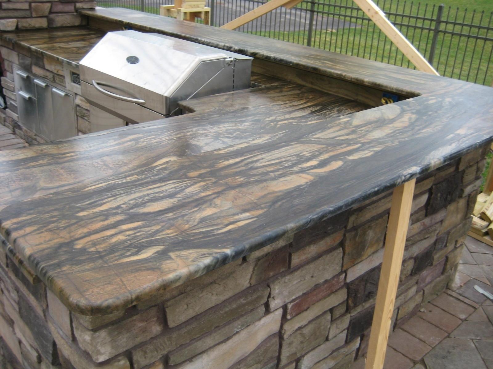 Vintage Outdoor Kitchen Granite Countertops Randolph Indoor And