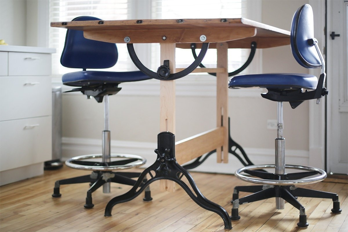 Surprising Vintage Drafting Stool Wood Randolph Indoor And Outdoor Design Alphanode Cool Chair Designs And Ideas Alphanodeonline