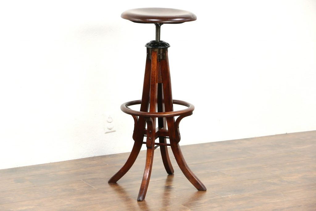 Amazing Vintage Wood Drafting Stool Randolph Indoor And Outdoor Design Caraccident5 Cool Chair Designs And Ideas Caraccident5Info