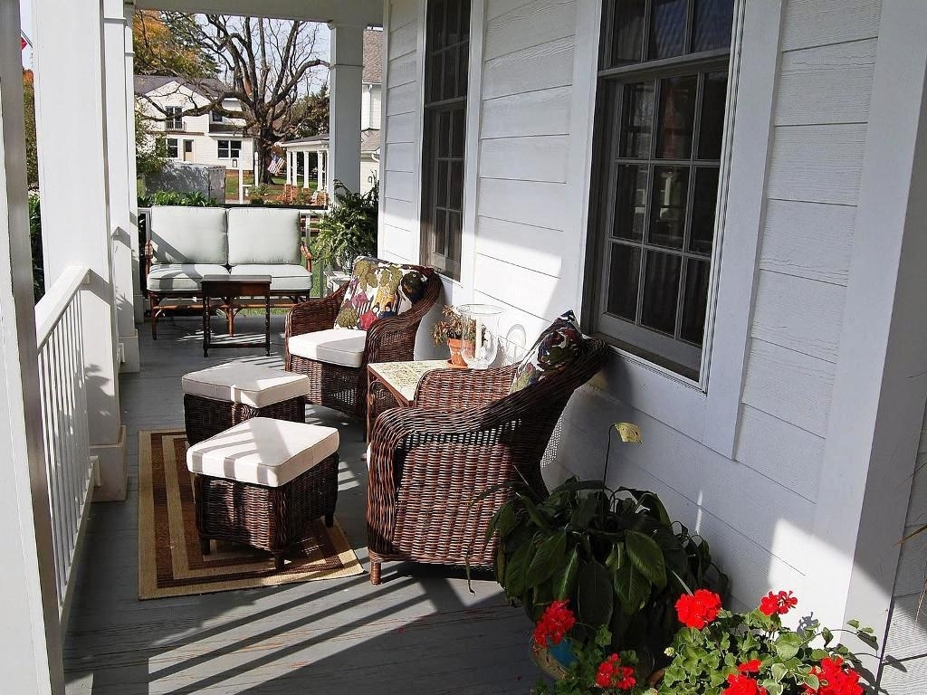 White Country Front Door Skinny Front Porch Decorating Ideas ...