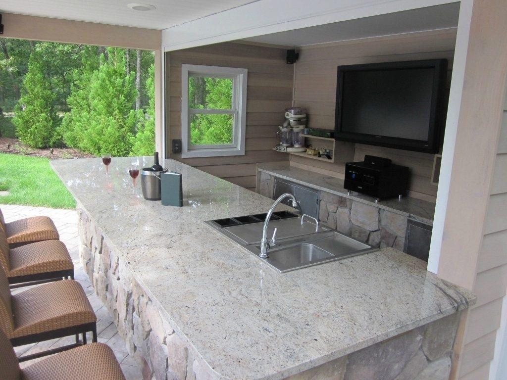 White Outdoor Kitchen Granite Countertops Randolph Indoor And