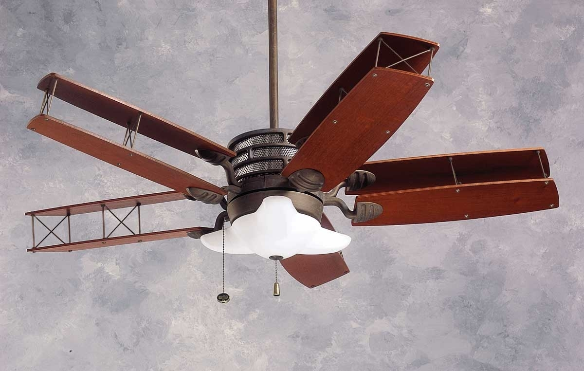 Image of: Wood Airplane Propeller Ceiling Fan Randolph Indoor And Outdoor Design